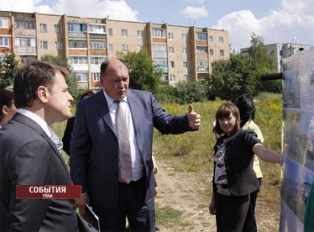 Глава района знакомит губернатора с планом строительства